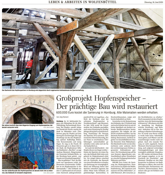 Sonderbeilage - Großprojekt Hopfenspeicher - Der prächtige Bau wird restauriert
