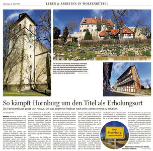 Pressebericht - So kämpft Hornurg um den Titel als Erholungsort
