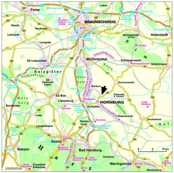 Anreise - Hornburg und Umgebung