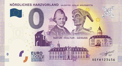 Euro-Souvenir-Schein 0,- EUR
