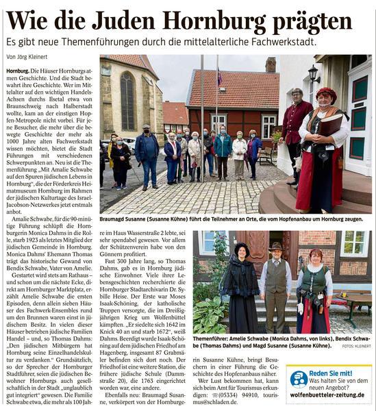 Pressebericht - Wie die Juden Hornburg prägten